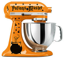 Potions Master Wizard Cauldron Black Vinyl Decal Set Kitchenaid Stand Mixer