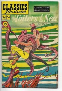 1949 Classics Illustrated #56 The Toilers of the Sea 1st Edition VF 8.0