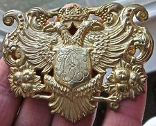 COAT OF ARMS vintage MIRIAM HASKELL BROOCH brooche PIN crest COSTUME JEWELRY vtg