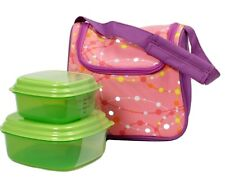 Fit Fresh Lunch Box Bag Morgan Chiller w/ Reusable Containers & Ice Pack Pink