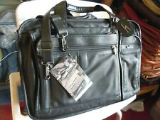NEW vintage Hartmann American Leather Attache Briefcase canry on ~ With Strap 11