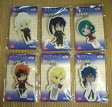 D.Gray-man Hallow Clear Badge Complete Set (6) 8.5-9.5 cm