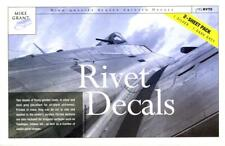 Mike Grant Decals RIVET DECALS 2-Sheet Pack Silver & Dark Gray Rivets