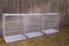 "FLIGHT CAGE 30*18*36"" WHITE (case of 3) birdcages  bird flight cages"