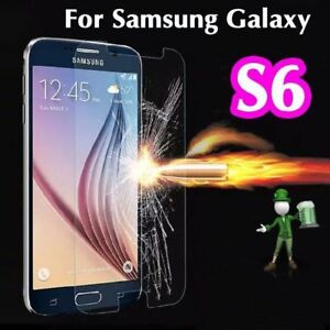 2 x Tempered Glass 9H Screen Protector For Samsung Galaxy S6