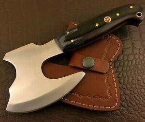 Handmade Axe-Hatchet-Carbon Steel-Bush Craft-Camping-Leather Sheath-Ch38