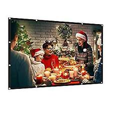 AMWOKE Projector Screen,100 inch Portable Screen with 16:9 HD Indoor- Outdoor...