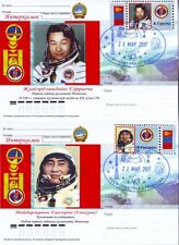 Russian 2017 Space Post Card Stamp Mongolian Cosmonauts