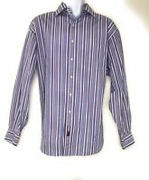Tommy Hilfiger Men's XL Striped Long-Sleeve Button Down Casual/Dress Shirt