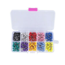 Plastic Round Heads and Steel Needle BOX Map Push Pins Map Tacks 1000 PCs