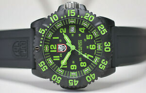 luminox series 3050 green navy seal colormark watch