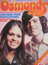 OSMONDS WORLD MAGAZINE - ISSUE 4 FEB 1974 - (INCLUDES OSMONDS POSTER!)