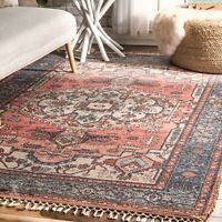nuLOOM Transitional Andrea Flatweave Area Rug in Multi