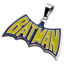 DC Comics Batman Stainless Steel Blue/Yellow Pendant