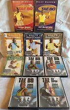 10 Tae Bo Billy Blanks workout exercise DVD lot Bootcamp Capture the Power set