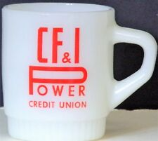 C F & I Power credit union coffee cup - Fire King - Anchor Hocking