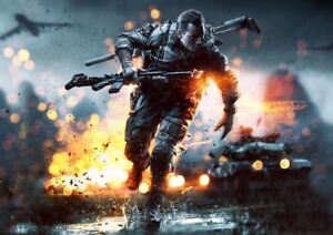 Battlefield 1 2 3  4 Epic Gaming Print PosterVarious Sizes Available E127