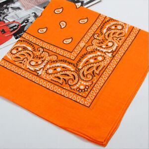 Cotton Head Wrap Cotton Dacron Paisley Bandanas Double Sided Scarf 22 Colors A