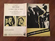 BROCHURE 1955,LA MORTE CORRE SUL FIUME,The Night of the Hunter MITCHUM,Laughton