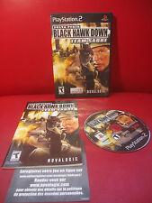 Delta Force: Black Hawk Down Team Sabre Sony PlayStation 2 COMPLETE Black label