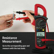 Us Lcd Digital Clamp Meter Multimeter Tester Ac Dc Volt Ohm Amp Auto Range Red