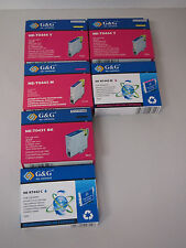 G&G NE-T0443 C, M, Y, & BK ink for Epsom Stulus C84/C64 photo LOT OF 6