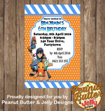 Personalised SLUGTERRA Birthday ANY AGE ANY EVENT INVITATION 4X6