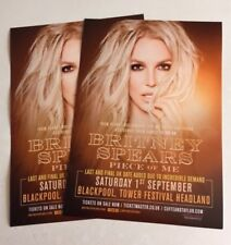 Britney Spears Very Rare Piece Of Me Blackpool Tour Concert Flyers!