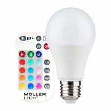 LED peras forma a60 9w = 60w e27 mate 806lm RGB + blanco cálido regulable control remoto