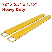 "72"" Steel Pallet Fork Extensions forklift lift truck slide on clamp 5.5"""