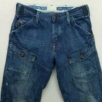 G-Star Raw STORM ELWOOD Mens HEAVY DENIM Jeans W31 L34 Blue Relaxed Bootcut