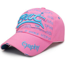 Mens Womens Casual Baseball Snapback Cap Letter Embroidery Hip Hop Golf Sun Hat