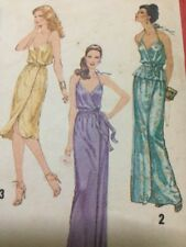 Simplicity Retro Disco Era Dress Pattern # 9242 Ladies Size 10 From 1979