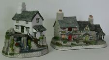 Lot of 2 VTG David Winter Cottages 1993 Welsh Coll: Y Ddraig Goch & Pen y Graig