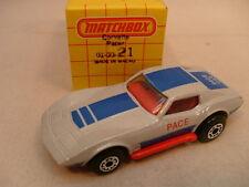 1979 MATCHBOX SUPERFAST #21 PACE CAR CHEVROLET CORVETTE STINGRAY MIB