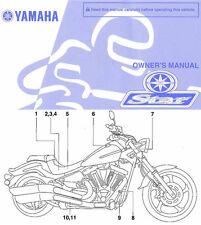 2011 YAMAHA STAR RAIDER 1900 MOTORCYCLE OWNERS MANUAL -XV19CSA-XV19CA-YAMAHA