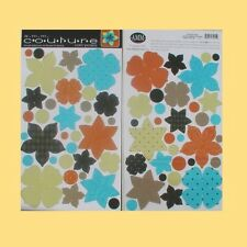ALL MY MEMORIES 2 SETS COUTURE Dbl Sided Pop-Out Flowers COM-POSIES Dapper