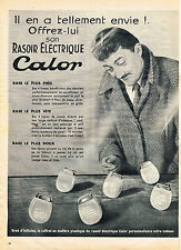 PUBLICITE ADVERTISING 064  1955  CALOR   rasoir éléctrique