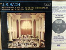 ARGO (Decca) JS Bach RICHARD HICKOX SINGERS Masses BWV 233 & 234 ZRG-873