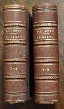 EL BRAVO Novela Veneciana de Fenimore Cooper 2-Vol.Set 1834 SPANISH Small Books