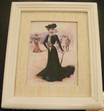 1:12 Scale Framed Picture Print Of An Elegant Lady Dolls House Painting