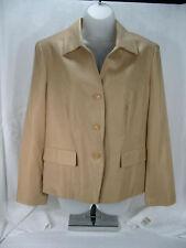 Talbots Jacket Blazer 12 P Bust 38 100% Silk Golden Camel  Beige Lined NWT