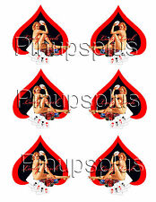 6 Ace of Spades Naughty Pinup Girl Guitar Waterslide Decal #251 by Pinupsplus