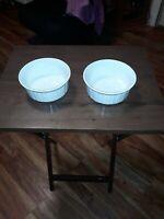 Set Of 2 Corning Ware FRENCH WHITE 16 Ounce (500 mL) Souffle /Baking Dishes