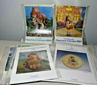 Lot of 11 Goebel Hummel 1980's Wall Calendars Charlot Byj H. Holt Co-Boy De Graz