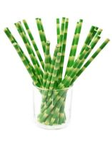 6 boxes (150 straws)  Paper Straws Biodegradable Bamboo Design Print EcoFriendly