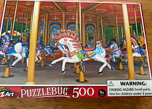 New Puzzlebug 500 Piece Jigsaw Puzzles - Enchanting Carousel. Unopened In Box