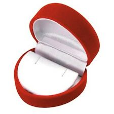 Wholesale Lot 48 Red Velvet Heart Earring Jewelry Display Packaging Gift Boxes