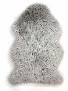 Faux Fur Sheepskin Soft Rug in Pink Grey Ivory Mauve Teal Non slip Mat