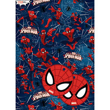 Marvel Ultimate Spider-man Gift Wrap 2 Sheets of Quality Wrapping Paper & 2 Tags